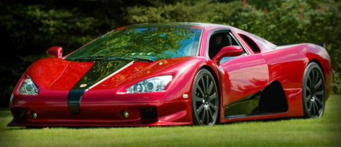 SSC Ultimate Aero red side view