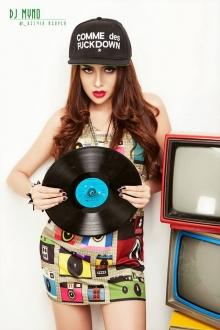 Tuyển tập nữ DJ xinh đẹp gợi cảm Việt Nam p.17 _ DJ Myno tiếp tục Hot với bộ hình phong cách lai the 80s'
