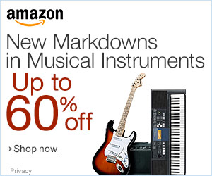 New Markdowns in Musical Instruments Up to 60% OFF