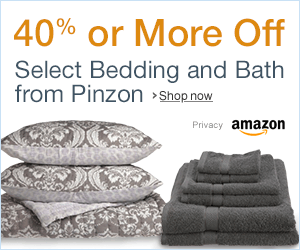 Up to 40% or More Off Select Bedding And Bath from Pinzon