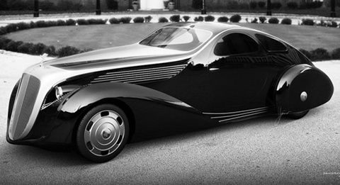 Rolls-Royce-Jonckheere-Aerodynamic-Coupe-II-front-of-mansion A