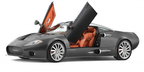spyker c8 aileron side doors open
